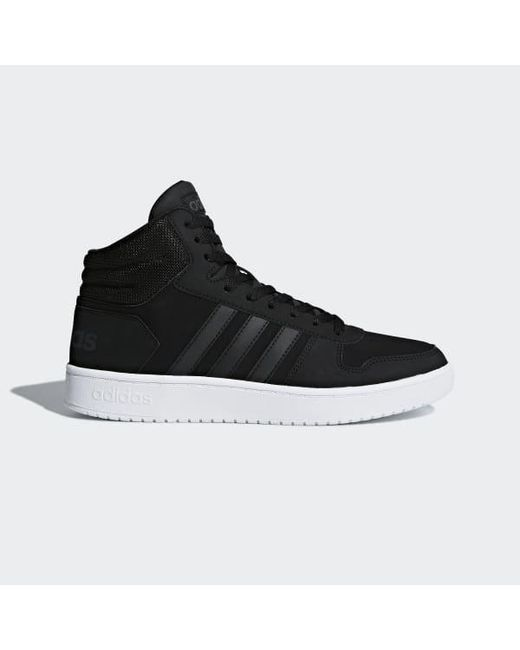 separation shoes c23a5 8c536 Adidas - Black Hoops 2.0 Mid Shoes for Men - Lyst ...