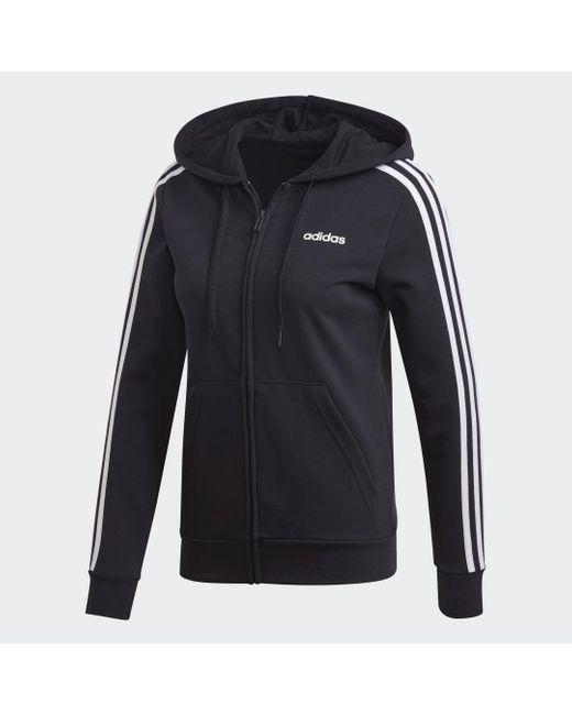 Adidas Essentials 3-stripes Hoodie in het Black