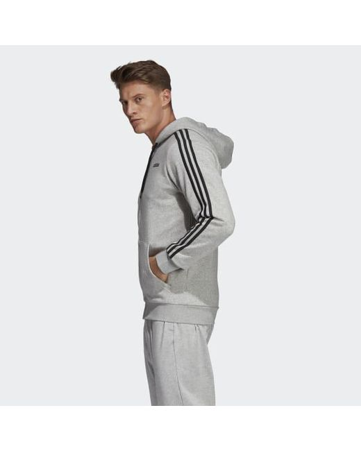 : adidas Essentials Men's 3 Stripes Fleece Hoodie