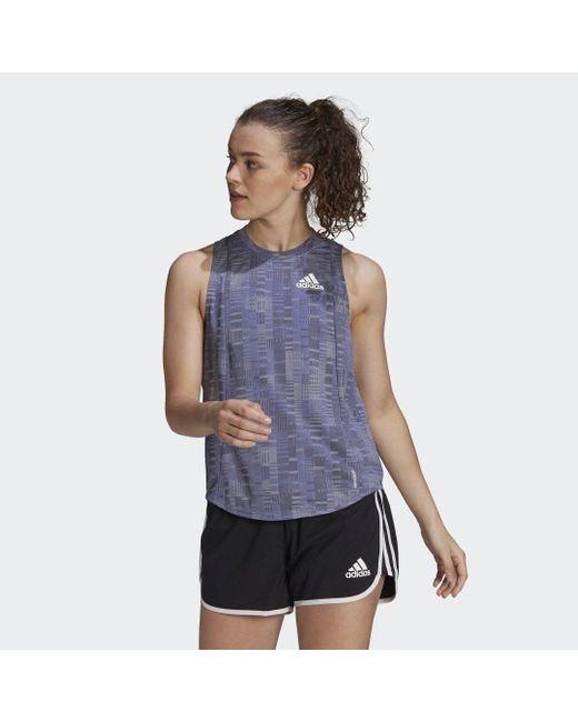 Adidas Own The Run Primeblue Running Tanktop in het Multicolor