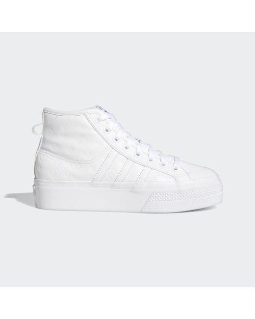 Chaussure Nizza Platform Mid Adidas en coloris White