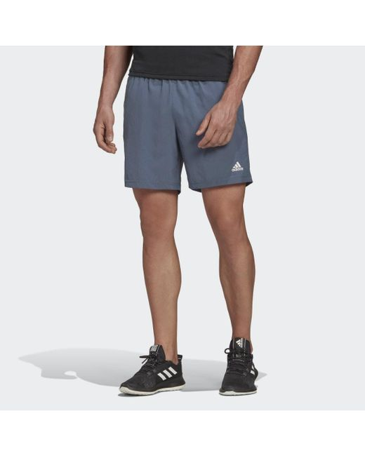 Adidas Run It 3-stripes Pb Short in het Blue voor heren