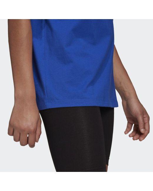 Adidas Blue LOUNGEWEAR Adicolor Essentials T-Shirt