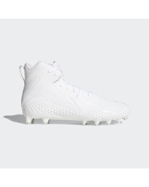 hot sale online dc1b5 d7194 Adidas - White Freak X Carbon Mid Cleats for Men - Lyst ...