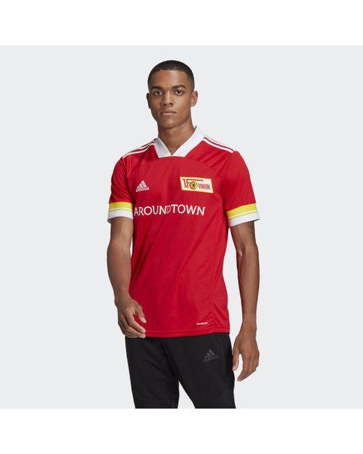 Adidas 1. Fc Union Berlin 20/21 Thuisshirt in het Red voor heren