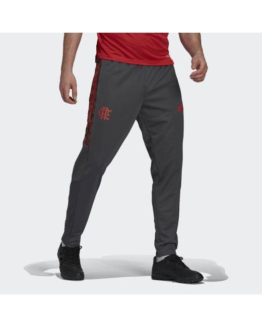 Pantaloni da allenamento CR Flamengo di Adidas in Black da Uomo