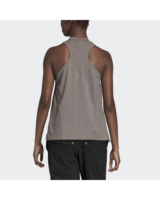 adidas Débardeur Training Mesh femme de coloris gris PaIXJ