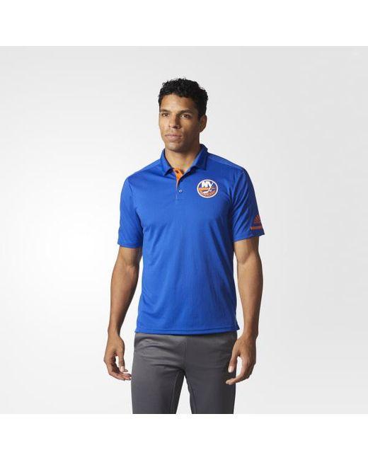 Adidas - Blue Islanders Pro Locker Room Polo Shirt for Men - Lyst