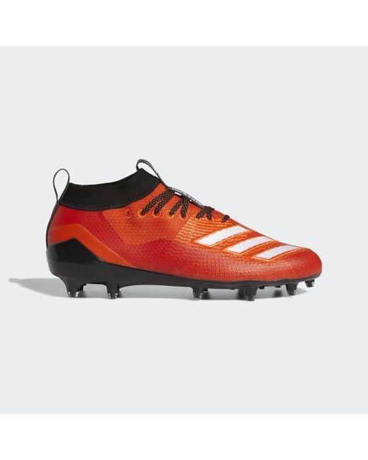 Adidas - Orange Adizero 8.0 Cleats for Men - Lyst ... 1a1783902