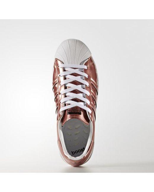 online store 99bb4 3bea6 ... Adidas - Metallic Superstar Boost Shoes - Lyst ...