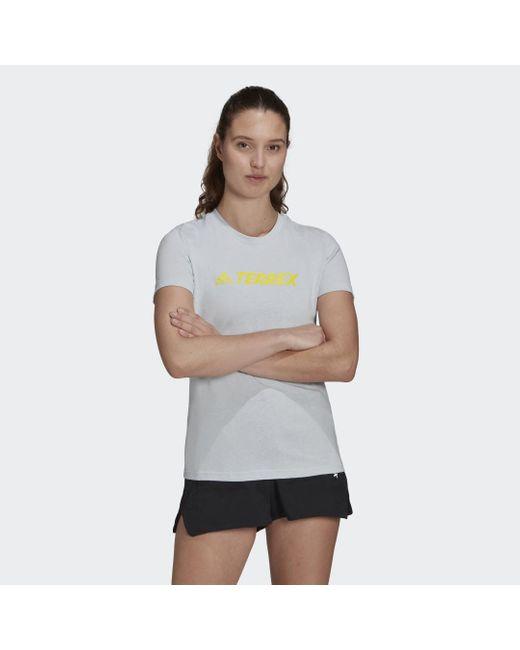 T-shirt Terrex Classic Logo di Adidas in Blue