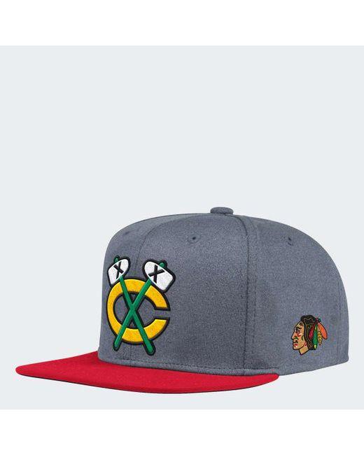 7fa9ec02810 Adidas - Gray Blackhawks Snapback Heathered Grey Hat for Men - Lyst ...