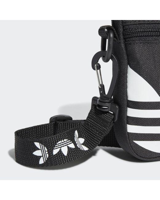 Adidas Black Adicolor Large Trefoil Festival Tasche