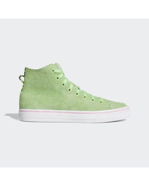 Men's Green Nizza Hi Rf Shoes