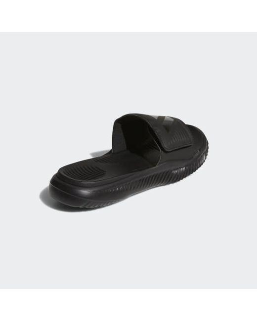 ef4759f3559c ... Adidas - Black Alphabounce Basketball Slides for Men - Lyst ...