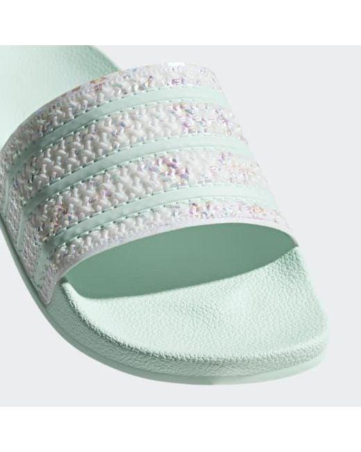 57858b8991e91 ... Adidas - Green Adilette Slides - Lyst ...