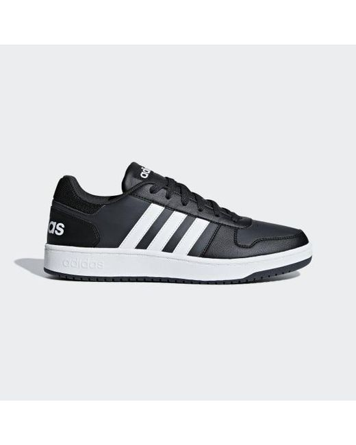 big sale 101be 4f916 Adidas - Black Hoops 2.0 Shoes for Men - Lyst ...
