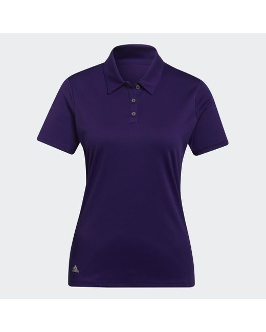 Adidas Purple Performance Poloshirt
