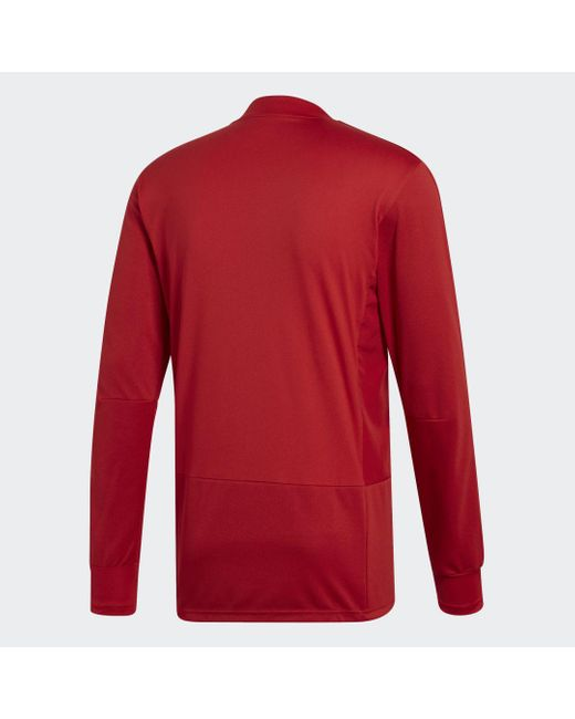 Adidas Fleece Jack Condivo 18 Player Focus Training Longsleeve in het Red voor heren