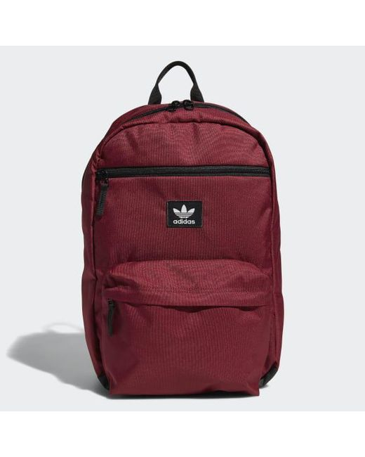 210d3163ed Adidas - Red National Backpack for Men - Lyst ...