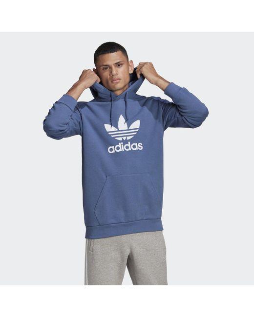 Adidas Trefoil Hoodie in het Blue voor heren
