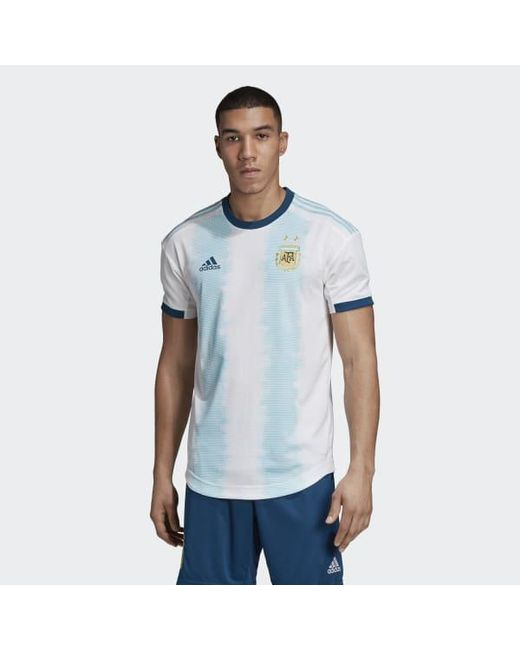 03dcbace317 Adidas - White Argentina Home Authentic Jersey for Men - Lyst ...
