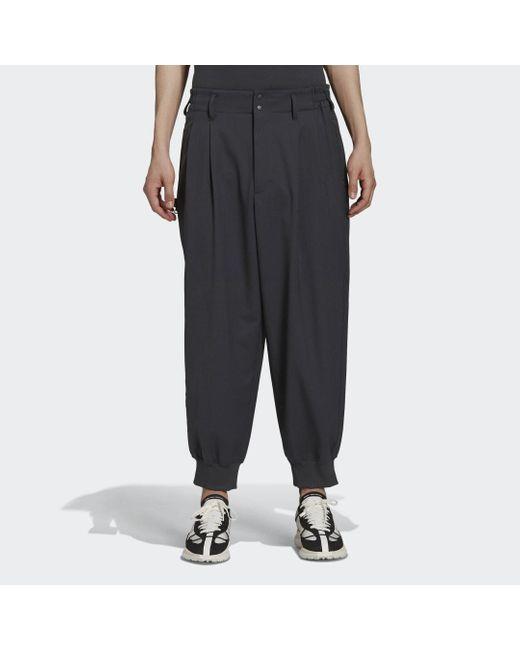 Y-3 Classic Cuffed Pants di Adidas in Black da Uomo