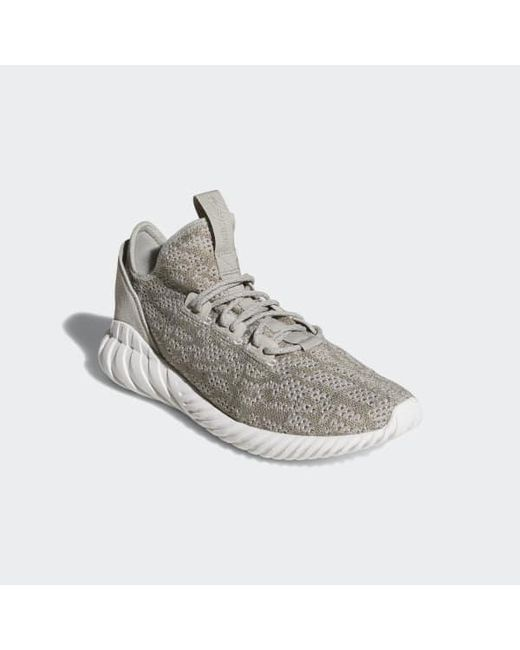 various colors 77d57 28a44 ... Adidas - Gray Tubular Doom Sock Primeknit Shoes for Men - Lyst ...