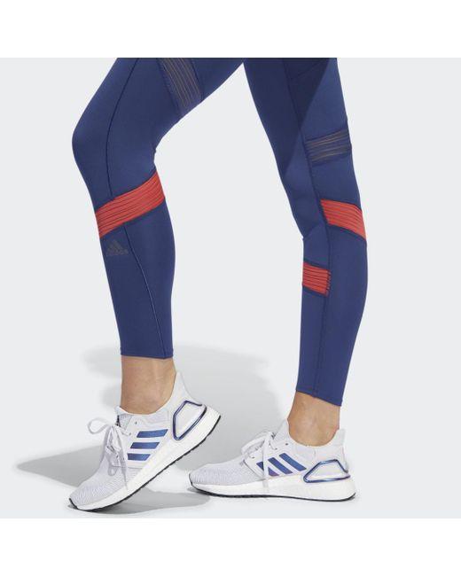 adidas Tight How We Do 7/8 femme de coloris bleu alHoy