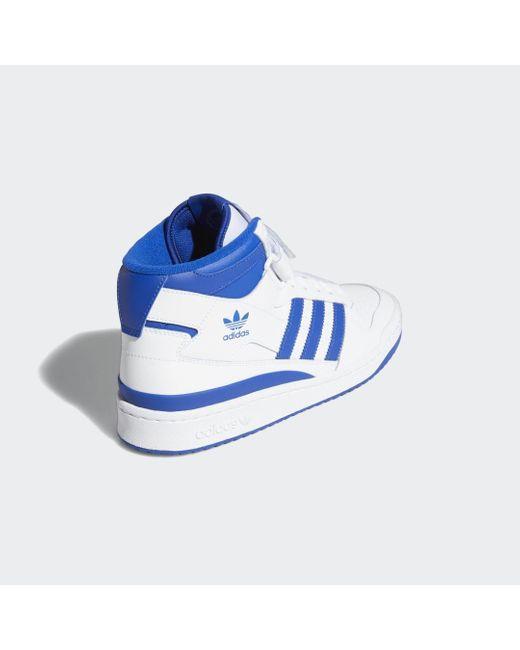 Chaussure Forum Mid Adidas en coloris Blue