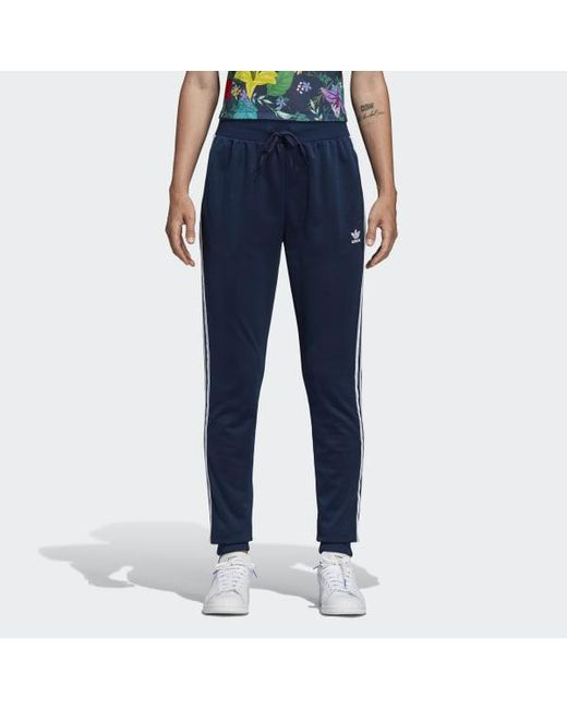 7ac9a75cc9faf Adidas - Blue Sst Pants for Men - Lyst ...