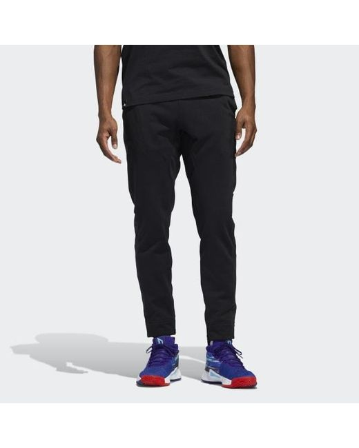 super popular sneakers sale usa online adidas Fleece Dame Pants in Black for Men - Lyst