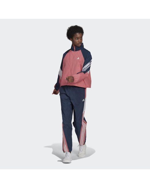 Tuta Sportswear Game-Time Woven di Adidas in Blue