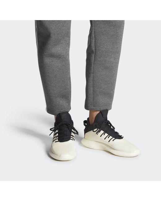 super popular b3481 53af2 ... Adidas - White Crazy 1 Adv Leather Shoes for Men - Lyst ...
