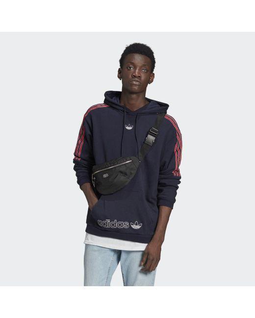 Hoodie SPRT 3-Stripes di Adidas in Blue da Uomo