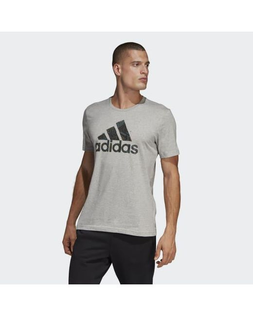 d7af145b Adidas - Gray Must Haves Badge Of Sport Graphic Tee for Men - Lyst ...