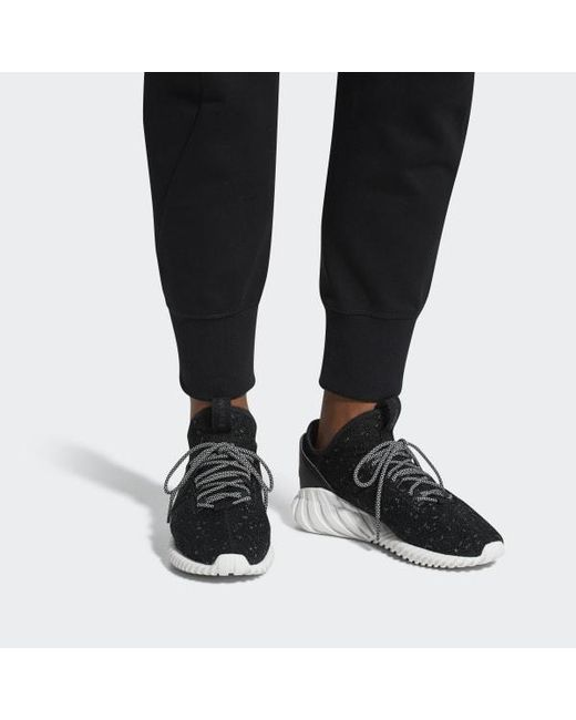 huge selection of bcd35 ce845 ... Adidas - Black Tubular Doom Sock Primeknit Shoes for Men - Lyst ...