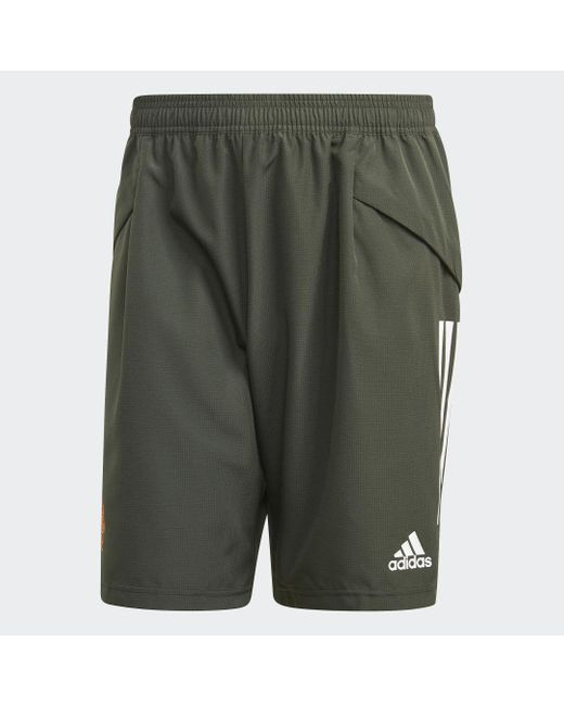 Adidas Manchester United Downtime Shorts in Green für Herren