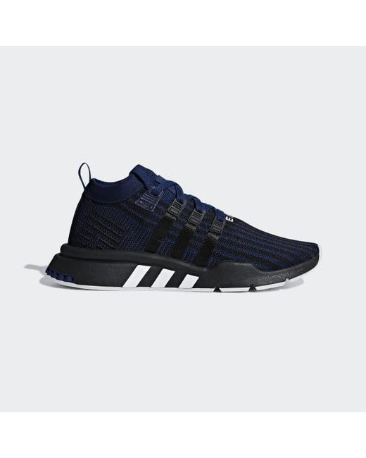 new style 0aa14 3023c Adidas - Blue Eqt Support Mid Adv Primeknit Shoes for Men - Lyst ...
