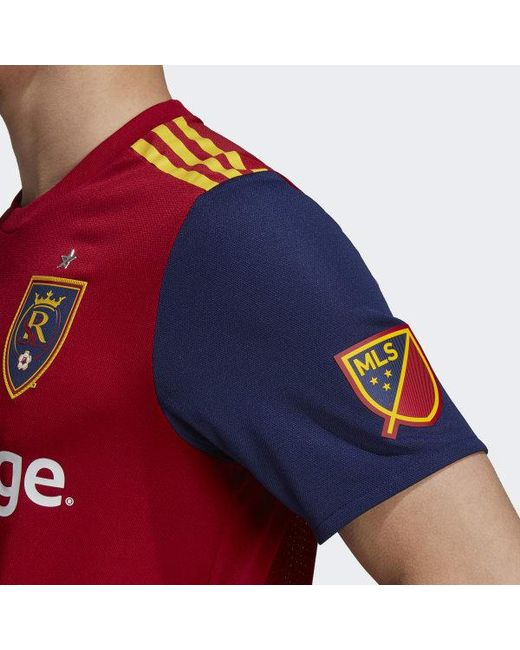 c5210a455a7 ... Adidas - Red Real Salt Lake Home Authentic Jersey for Men - Lyst ...