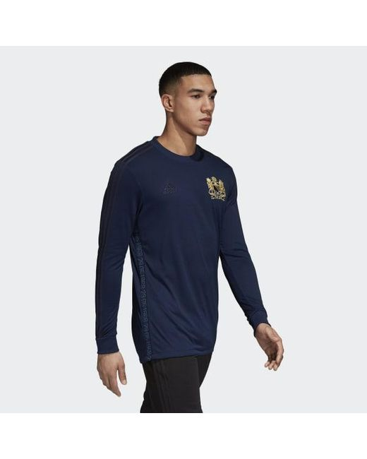 1774c37c6 ... Adidas - Blue Manchester United 50th Anniversary Jersey for Men - Lyst  ...