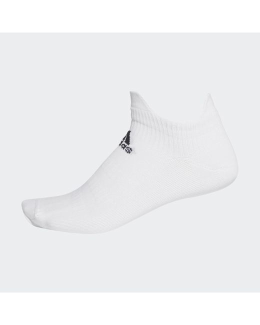 Adidas White Techfit Low Socken