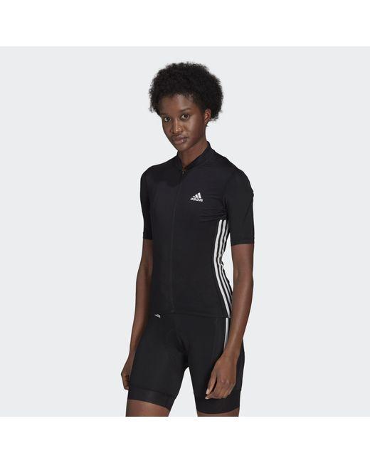 Adidas Black The Short Sleeve Cycling Jersey