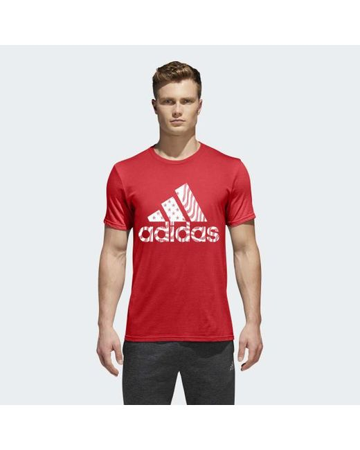 d4982fef9c Men's Red Badge Of Sport Big And Tall American Tee