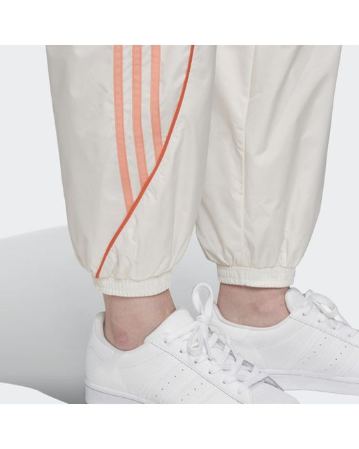 adidas Pantalon de survêtement femme de coloris blanc KaPK1
