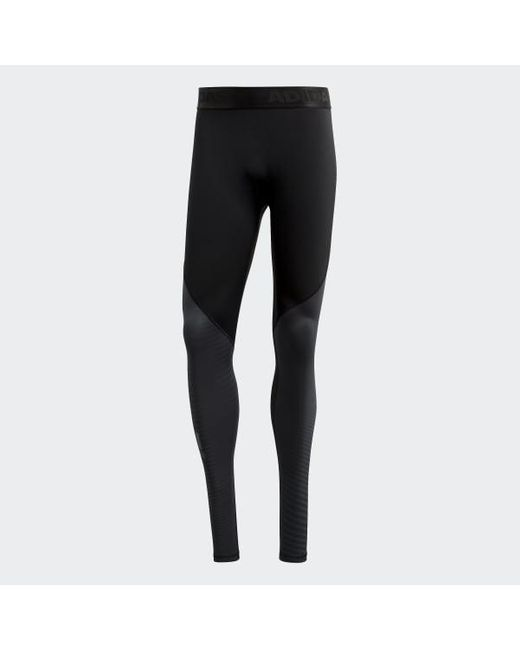 adidas Synthetic Alphaskin Sport Climawarm Tights in Black
