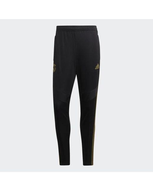 Men's Black Real Madrid Training Pants