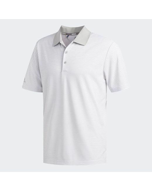 Adidas White Two-color Club Stripe Polo Shirt for men