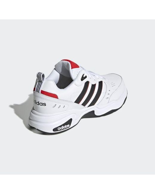 adidas Leather Strutter Shoes in White