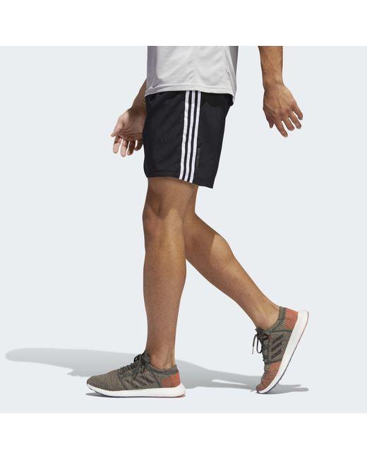 Short Run It 3-Stripes Adidas pour homme en coloris Black
